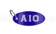 Alpha Iota Omicron Greek Letter Key Chain, Royal Blue
