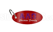 Alpha Lambda Omega Key Chain with Greek Letters, Red