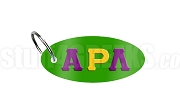 Alpha Rho Lambda Key Chain with Greek Letters, Kelly Green