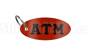 Alpha Tau Mu Key Chain with Greek Letters, Red