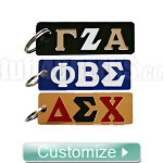 Custom Mini License Plate Key Chain