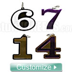 Custom Number Key Chain