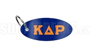 Kappa Delta Rho Key Chain with Letters, Navy Blue