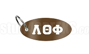 Lambda Theta Phi Greek Letter Key Chain, Brown