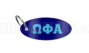 Omega Phi Alpha Key Chain with Greek Letters, Royal Blue