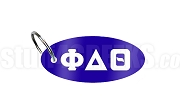 Phi Delta Theta Key Chain with Greek Letters, Royal Blue