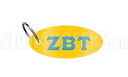 Zeta Beta Tau Christian Fraternity Key Chain with Greek Letters, Gold
