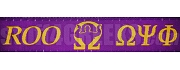 Omega Psi Phi Greek Letter Lanyard with Que Dog, Purple