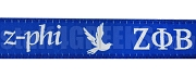 Zeta Phi Beta Greek Letter Lanyard with Dove, Royal Blue