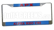 Alpha Rho Chi License Plate Frame - Alpha Rho Chi Car Tag