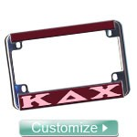 Custom Motorcycle License Plate Frame