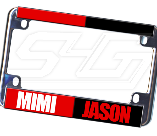 Personalized Split Motorcycle License Plate Frame