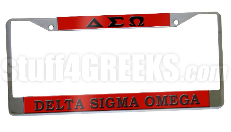 Delta Sigma Omega License Plate Frame - Delta Sigma Omega Car Tag