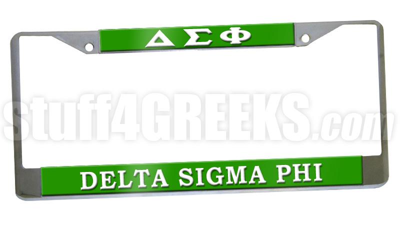 Delta Sigma Phi License Plate Frame - Delta Sigma Phi Car Tag