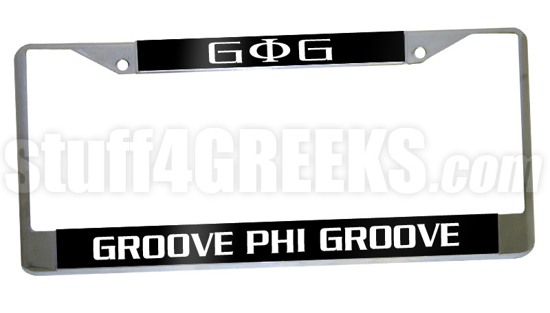 Groove Phi Groove License Plate Frame - Groove Phi Groove Car Tag