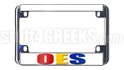 Order of the Eastern Star Motorcycle License Plate Frame, White