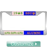 Custom Split License Plate Frame