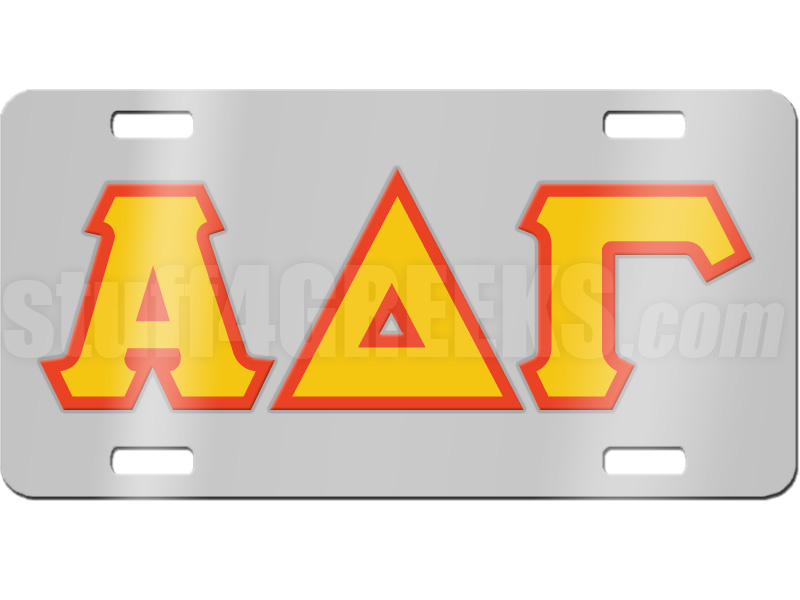 alpha delta gamma license plate