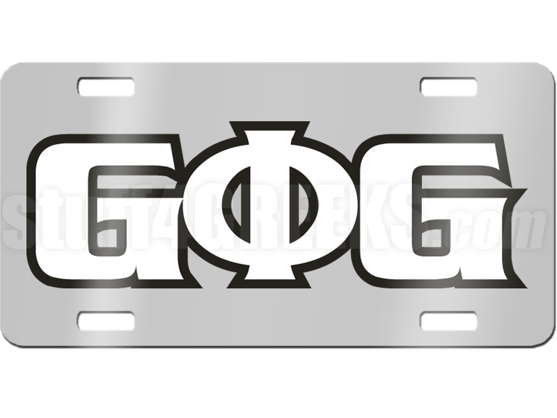 groove phi groove letter license plate