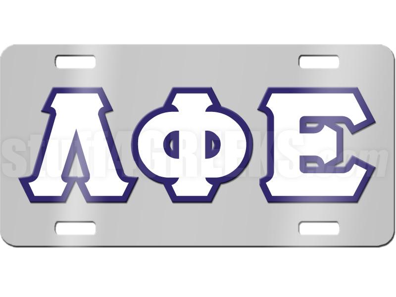 lambda phi epsilon license plate
