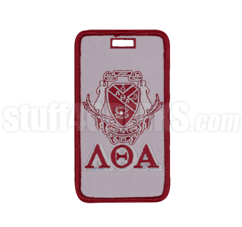 Lambda Theta Alpha Embroidered Luggage Tag With Sheild And Greek
