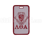 Lambda Theta Alpha Embroidered Luggage Tag with Sheild and Greek Letters, Full Color