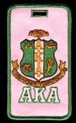 Alpha Kappa Alpha Crest Luggage Tag