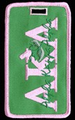 Alpha Kappa Alpha Rose Luggage Tag