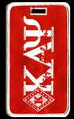 Kappa Alpha Psi Diamond Luggage Tag