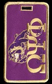 Omega Psi Phi Dog Luggage Tag