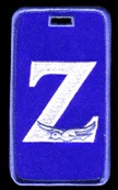 Zeta Phi Beta Luggage Tag with Dove