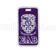 Sigma Lambda Beta Embroidered Luggage Tag with Sheild and Greek Letters, Full Color