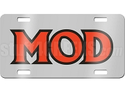 Men of D.I.S.T.I.N.C. MOD Letter Mirror License Plate