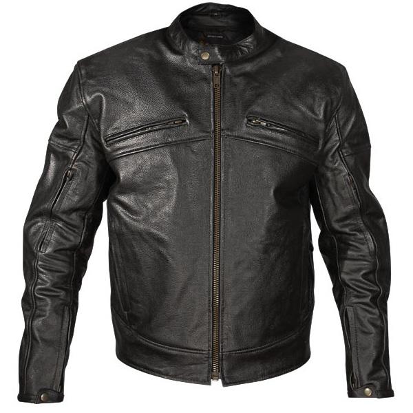 Black Leather Motorcycle Jacket For Men