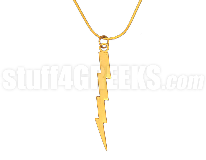 Omega psi phi 125 lightning bolt pendant gold sold out zoom mozeypictures Image collections