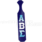 Alpha Beta Sigma Paddle with Glossy Navy Blue Wood