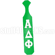 Alpha Delta Phi Paddle with Glossy Kelly Green Wood and Reflective White Letters
