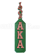 Alpha Kappa Alpha Wall Piece with Greek Letters and Founding Year Handle, Green