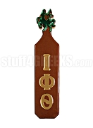 Iota Phi Theta Paddle with Greek Letters and Centaur Handle, Brown