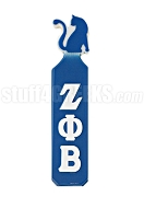 Zeta Phi Beta Paddle with Greek Letters and Cat Handle, Royal