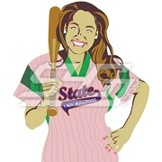 Baseball Girl Icon