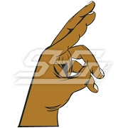 Gamma Zeta Rho Hand Sign Icon