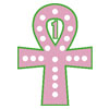 Ankh with 20 Pearls Icon