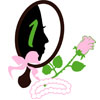 Mirror, Rose and Pearls with Face Icon