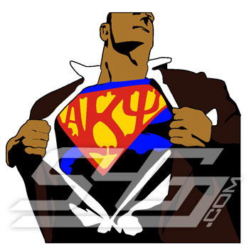 Alpha Kappa Psi Superman Icon