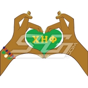 Chi Eta Phi Heart Hands Icon