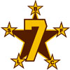 5 Pt. Star w/Number Icon