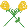 Crossing Yellow Roses Icon