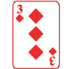 3 of Diamonds Icon