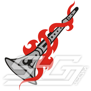Clarinet In Flames Icon